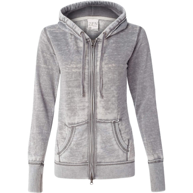 SC108. Women's J. America Zen Fleece Full-Zip Hooded Sweatshirt