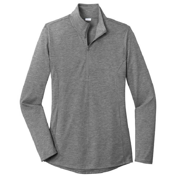 CAPLP105. Ladies PosiCharge ® Tri-Blend Wicking 1/4-Zip Pullover