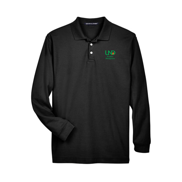 UNDFMS. Devon & Jones Pima Piqué Long Sleeve Polo