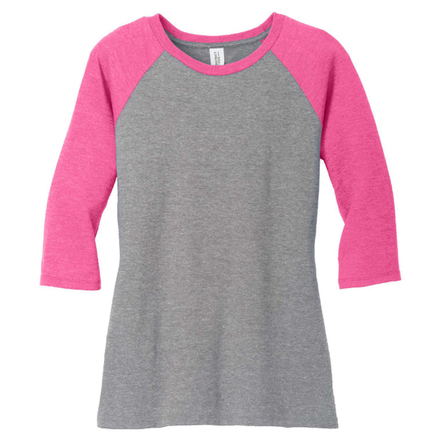 CAPLP109. Ladies' Perfect Tri ® 3/4-Sleeve Raglan