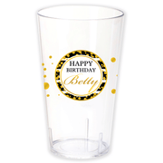 Gold Polka Dot Birthday Cup