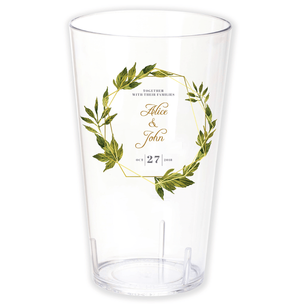 Green Wreath Wedding Cup