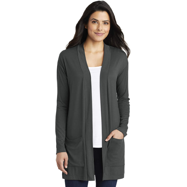 BBBS105. Women's Port Authority® Concept Long Pocket Cardigan