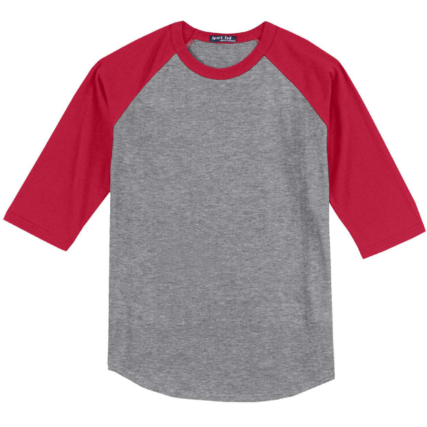KM400. Youth Raglan Baseball Tee