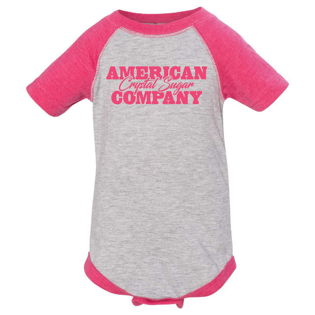 ACS403. Infant Baseball Fine Jersey Bodysuit