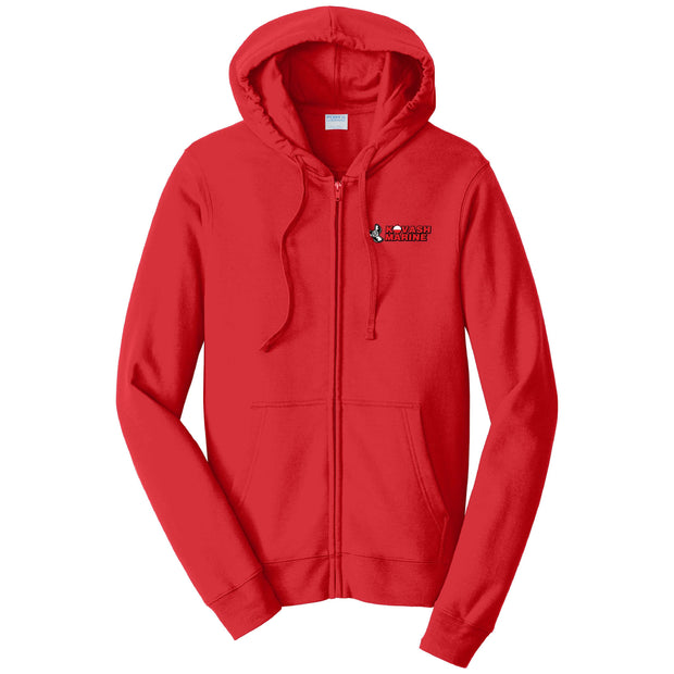 KM103. Fleece Full-Zip Hooded Sweatshirt