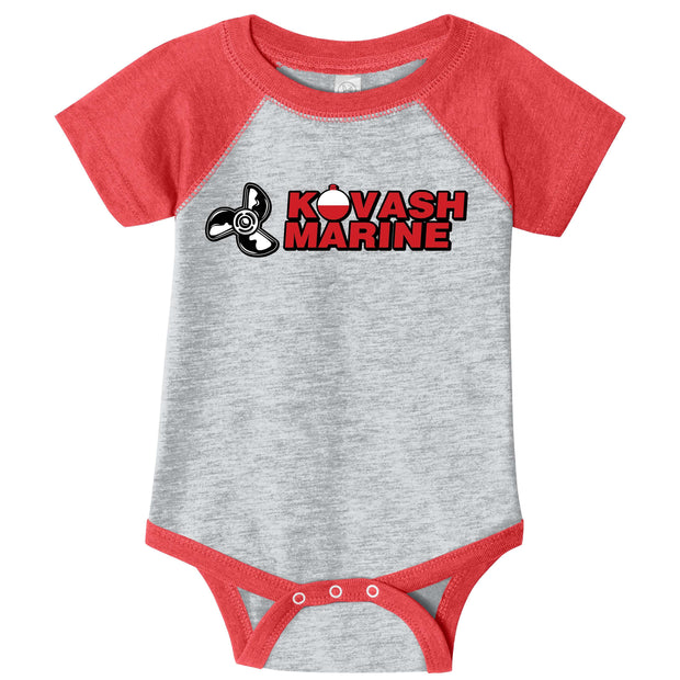 KM402. Infant Raglan Baseball Bodysuit