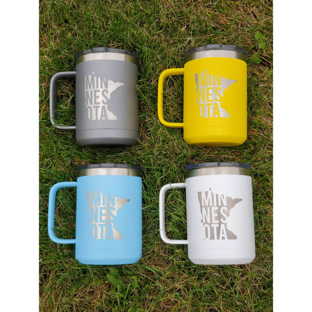 Engraved MN Stainless Mugs In Grass
