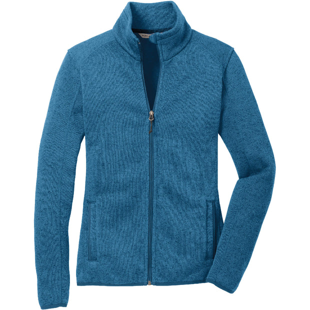 BYTE120. Women's Port Authority®Sweater Fleece Jacket