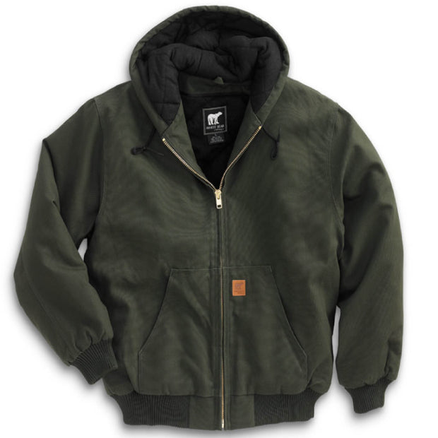 HH110. Men's Cotton Duck Hooded Jacket