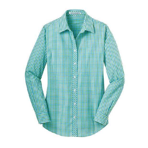 NDSU105. Women's Long Sleeve Gingham