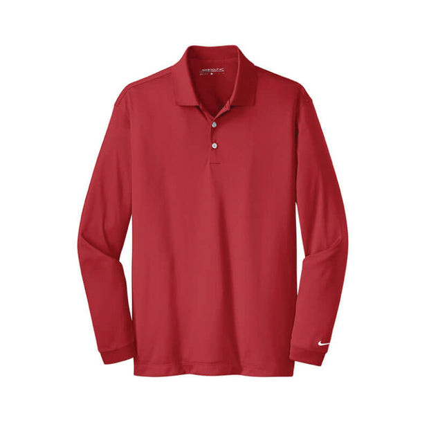 NDSU207. Men's Nike Golf Long Sleeve Dri-Fit Polo
