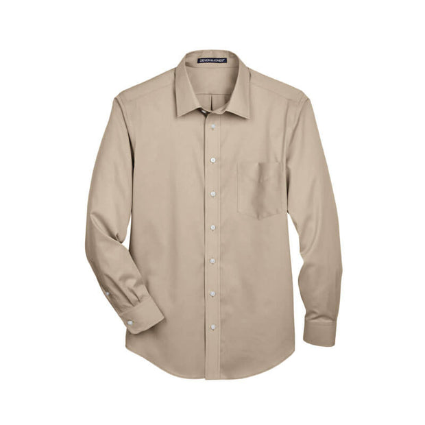 NDSU209T. Men's Tall Woven Solid Stretch Twill Shirt