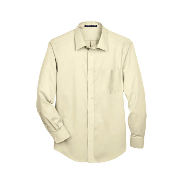 NDSU209. Men's Woven Solid Stretch Twill Shirt