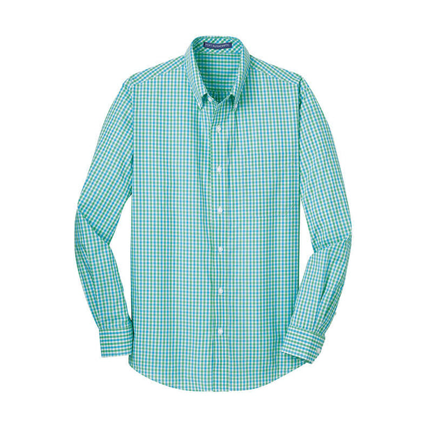 NDSU210. Men's Wrinkle Resistant Gingham Dress Shirt