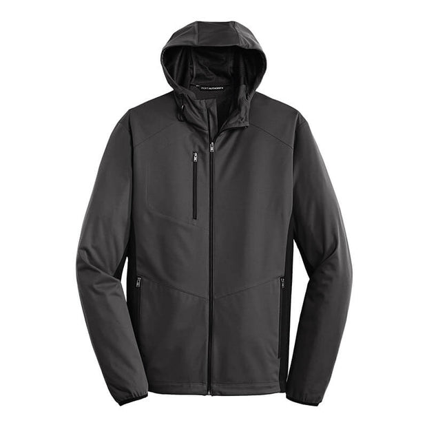NDSU227. Men's Hooded Soft Shell Jacket