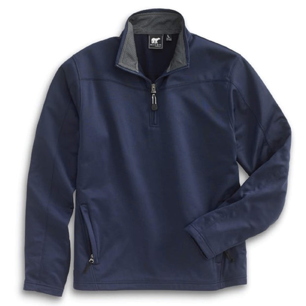 AS207. Men's White Bear 1/4-Zip Performance Pullover