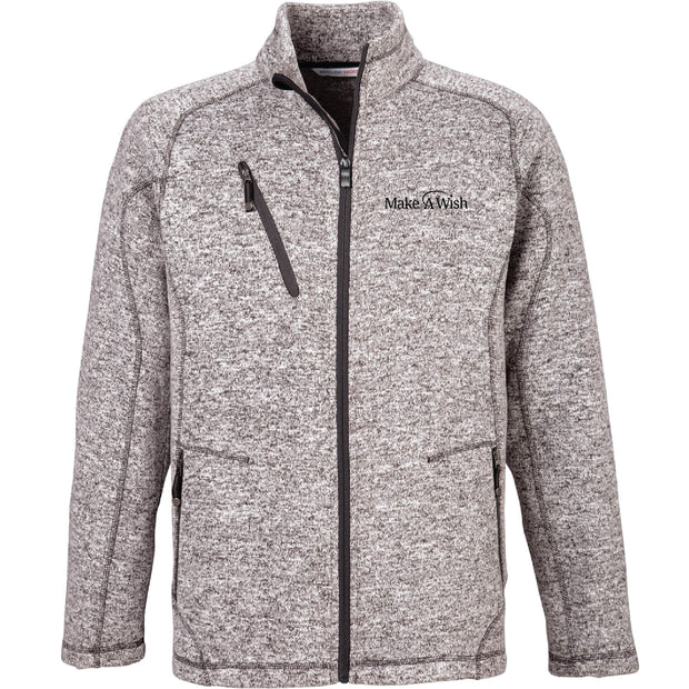 MAW212. Men's North End Peak Sweater Fleece Jacket