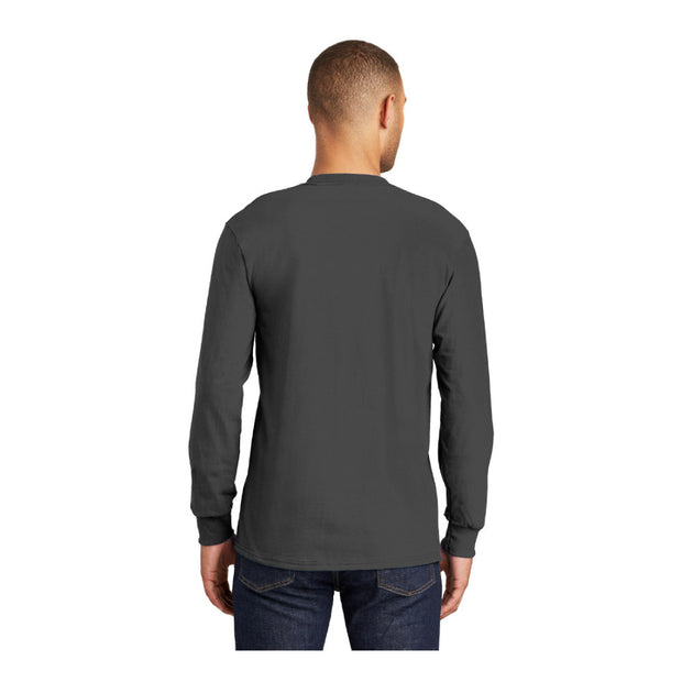 UNDFMS. Port & Company® Long Sleeve Essential Pocket Tee