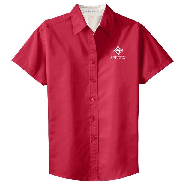 SDX100. Ladies' Short Sleeve Easy Care Shirt