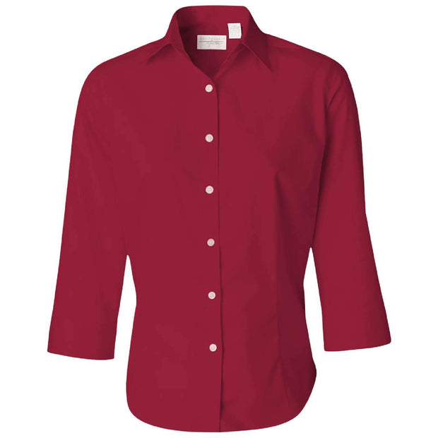 BB1041. Ladies' Wrinkle Free ¾ Sleeve Twill Shirt