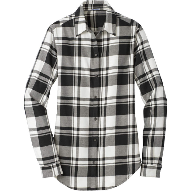 MAW103. Ladies' Port Authority® Plaid Flannel Tunic