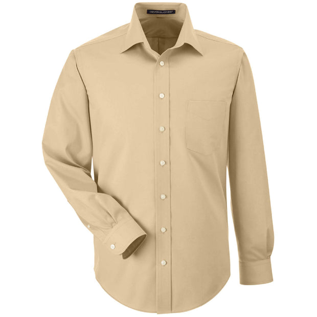BB2011T. Men's Tall Solid Stretch Twill Dress Shirt