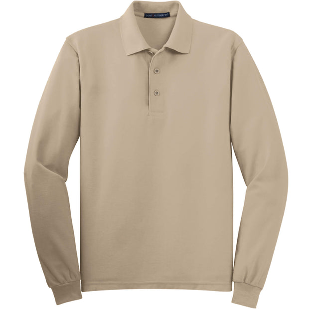GC131. Men's Port Authority® Silk Touch™ Long Sleeve Polo