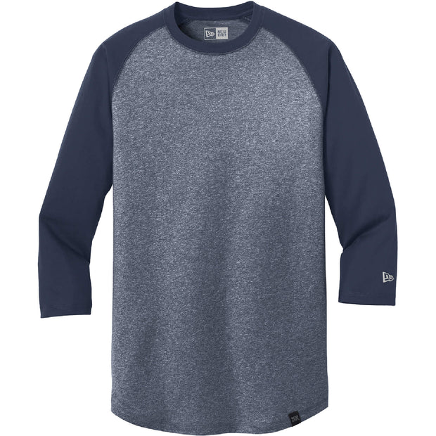 BYTE202. Men's New Era® Heritage Blend 3/4-Sleeve Baseball Raglan Tee
