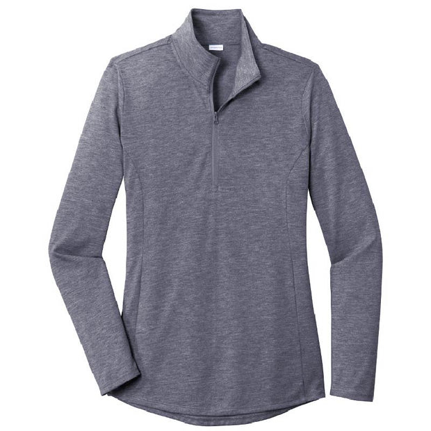 MPM206. Ladies PosiCharge ® Tri-Blend Wicking 1/4-Zip Pullover