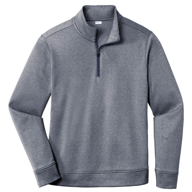 MPM107. PosiCharge® Heather Fleece 1/4-Zip Pullover