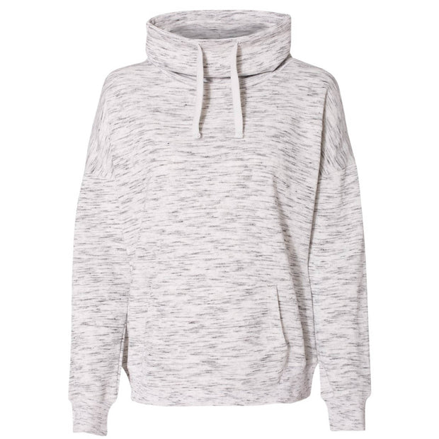 HH204. Ladies' Melange Fleece Cowlneck Pullover