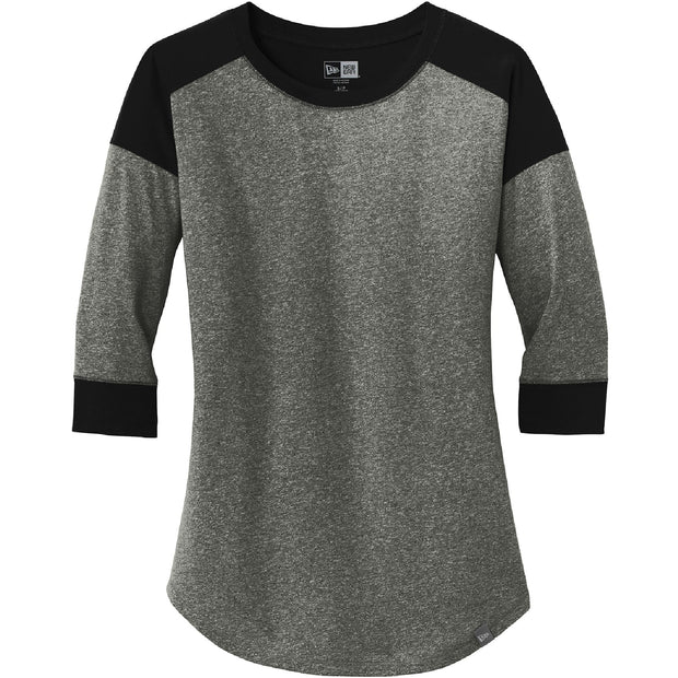 BYTE101. Women's New Era® Heritage Blend 3/4-Sleeve Baseball Raglan Tee