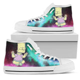 Trippy Bart // Men High Top Shoes