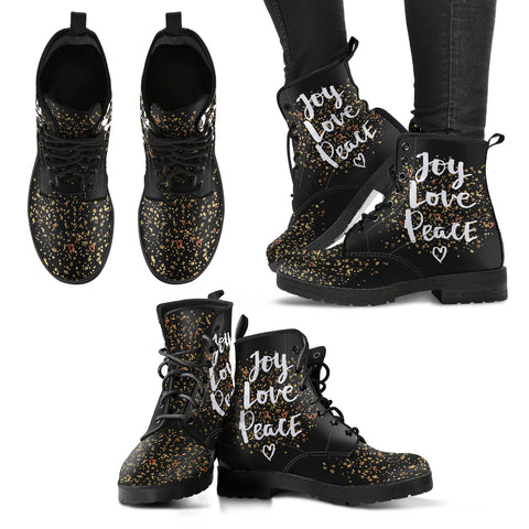 Joy Love Peace Women's Leather Boots