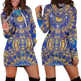 Gold Bohemian Women's Hoodie Dress
