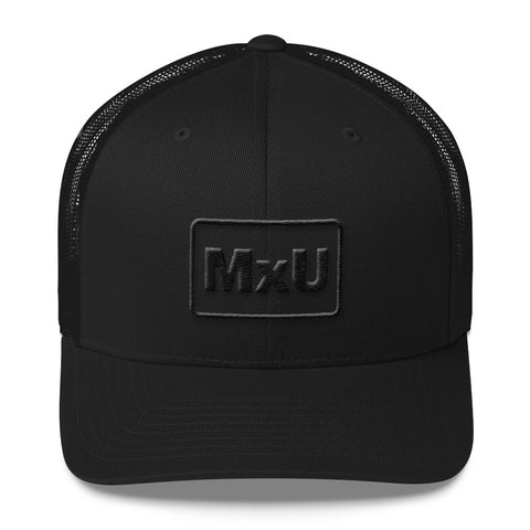 MxU Stealth Trucker Cap - Black