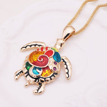 Colorful Sea Turtle Necklace
