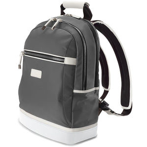 david john new york, jordan backpack, gray backpack, gray and white