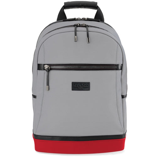 david john new york, bryant backpack, gray backpack, black and gold