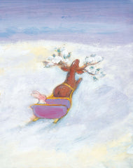 Christmas Bunny in the sleigh