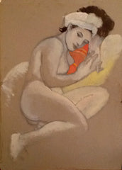 The nude with the red scarf