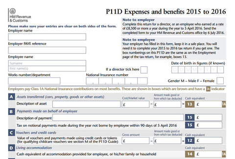 P11D Expenses and Benefits