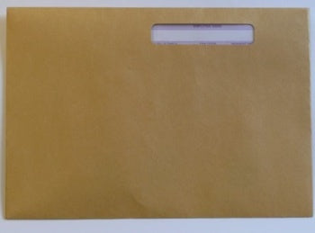 Iris Manilla Payslip Envelope with Window Self Seal