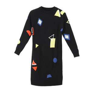 Geometric Knit Dress - Festival Professional