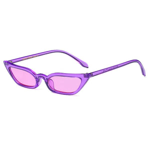 Slim Frame Cat Eye Sunglasses - Festival Professional