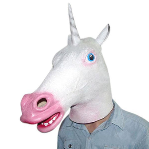 Creepy Unicorn Mask - Festival Professional
