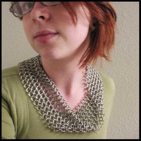 Chainmaille Cowl by Red Panda :  going out lightweight shiny chainmail