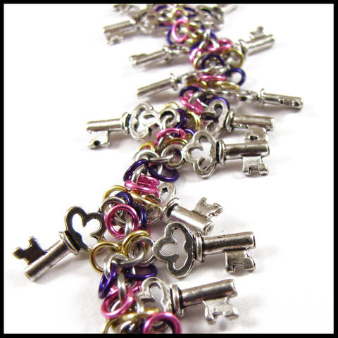 Key Colorburst Charm Bracelet by redpanda