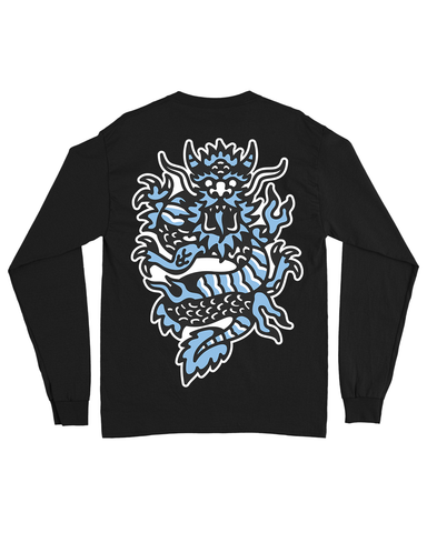 SPIRITUAL DRAGON LONG SLEEVE TEE BLACK